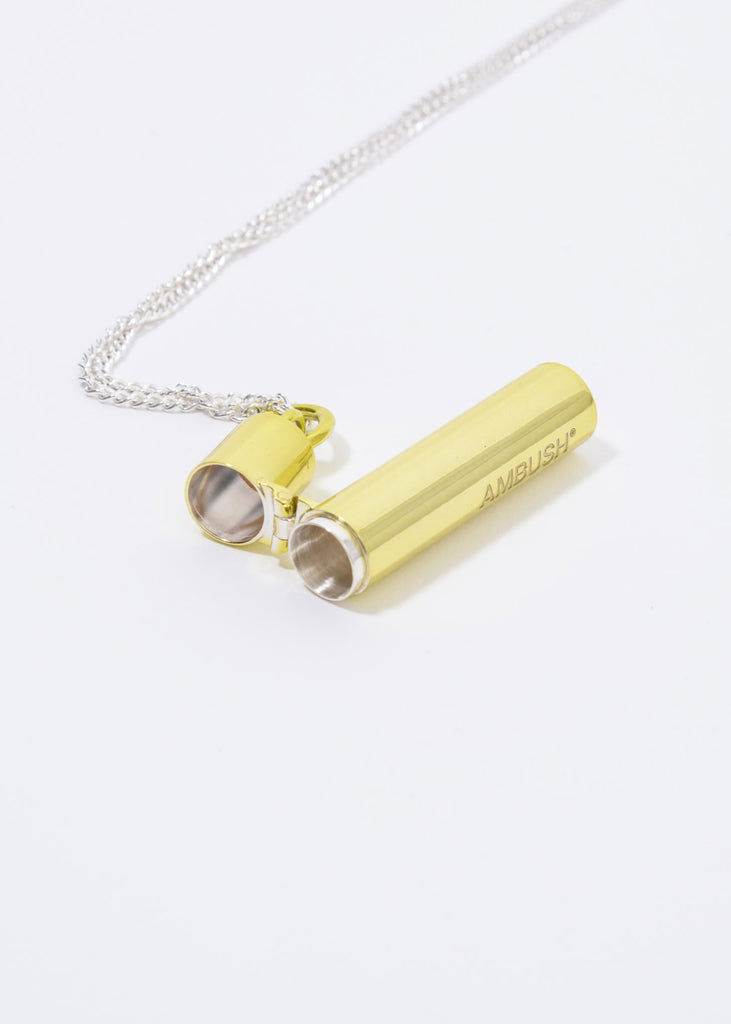 Green And Silver SSS Pill Case Necklace