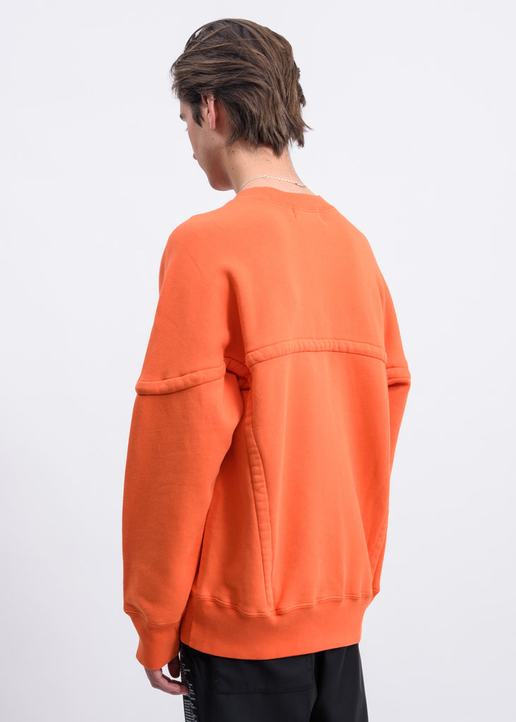 Orange Wide Pipping Sweater