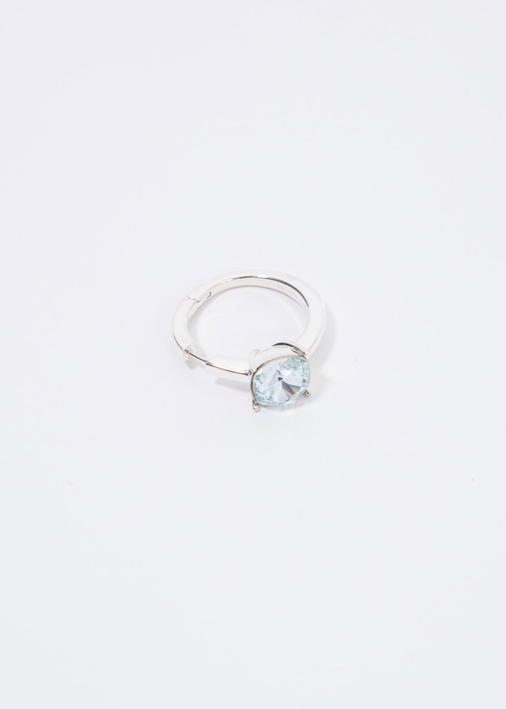 Silver And Blue Solitaire Single Earring