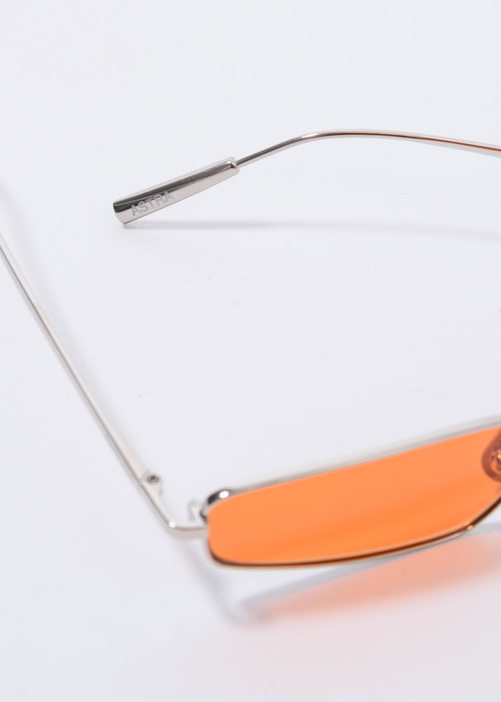 Silver And Orange  Astra Sunglasses