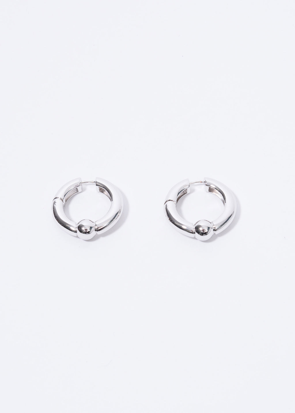 Silver Ball Closure Earrings