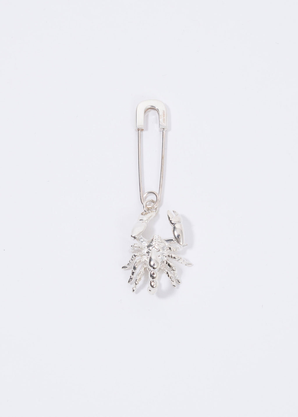 Silver Scorpion Safety Pin Single Earring