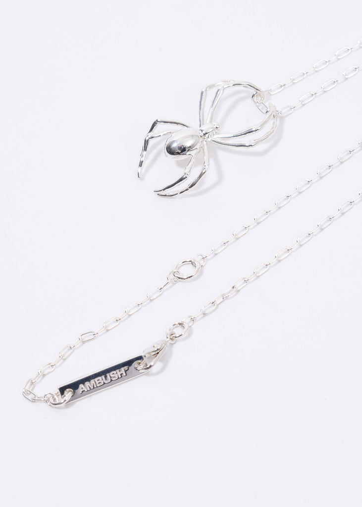 Silver Spider Charm Necklac