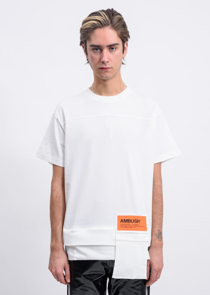 White Waist Pocket T-Shirt