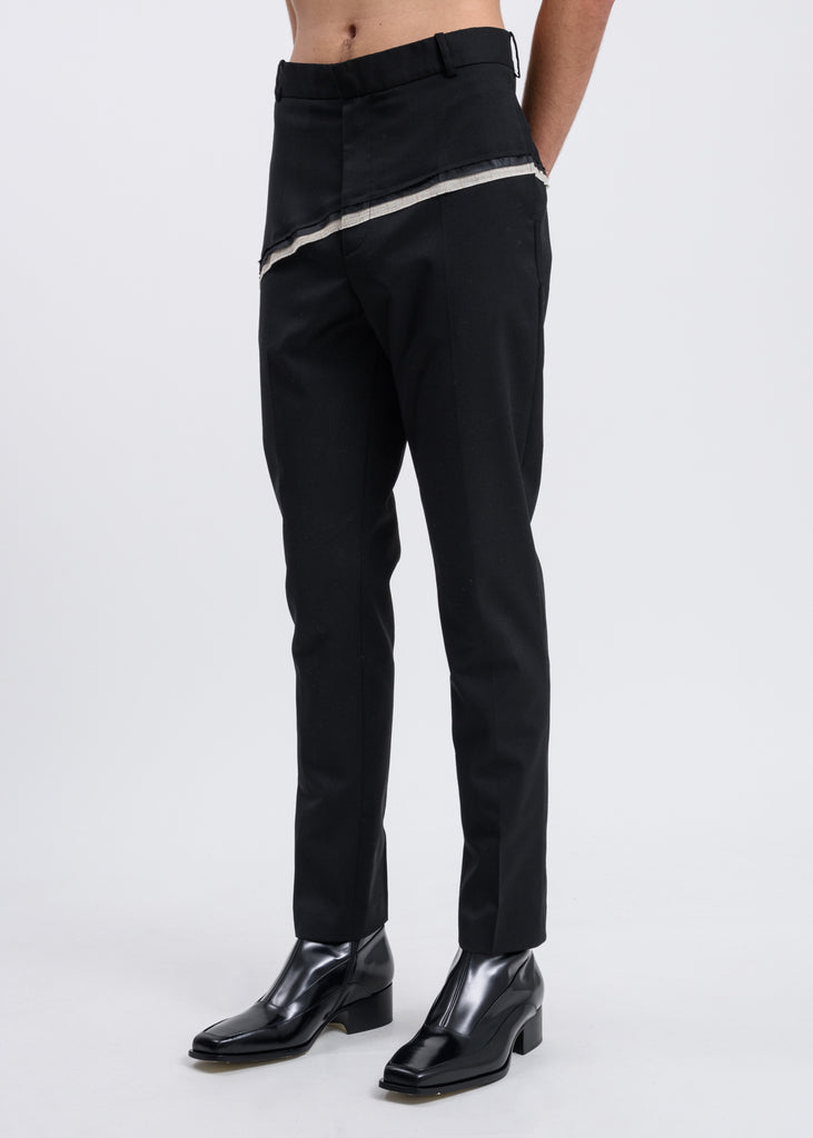 Black D'angelo Raw Trousers