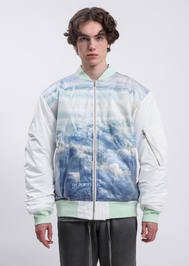 Blue Clouds Bomber Jacket