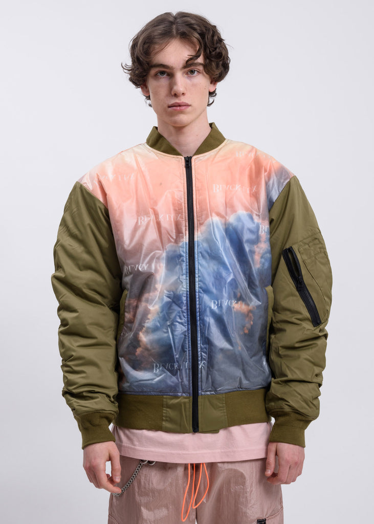 Khaki Clouds Bomber Jacket