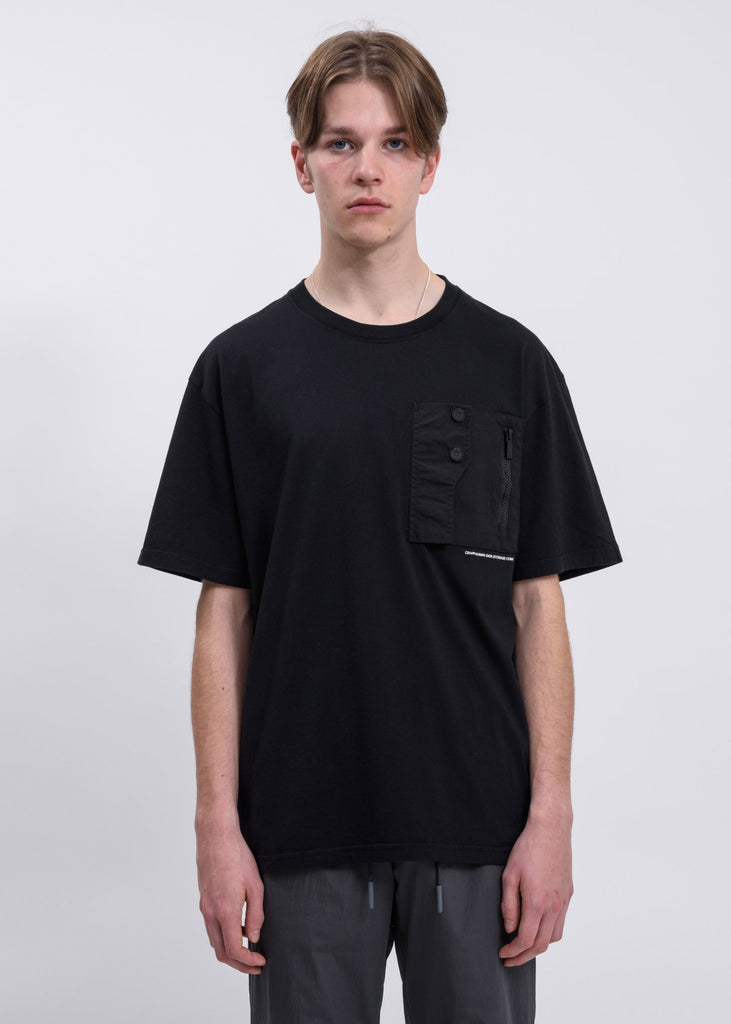 Black Layer Pocket Logo T-Shirt