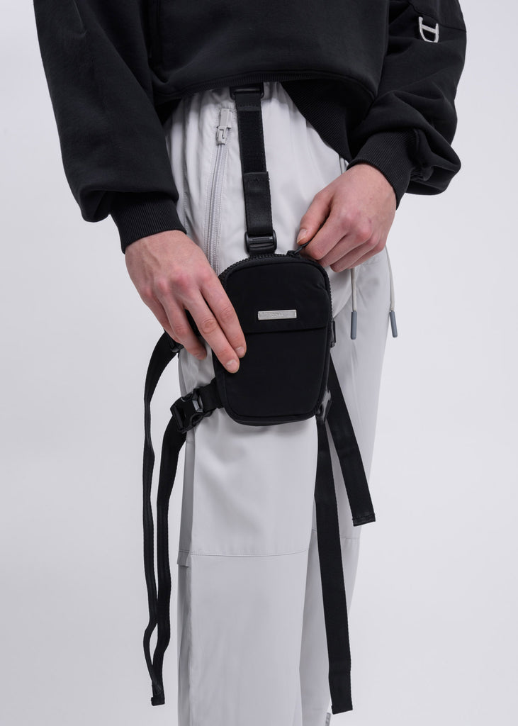 "Black ""MTRO"" Confidential Leg Pouch"