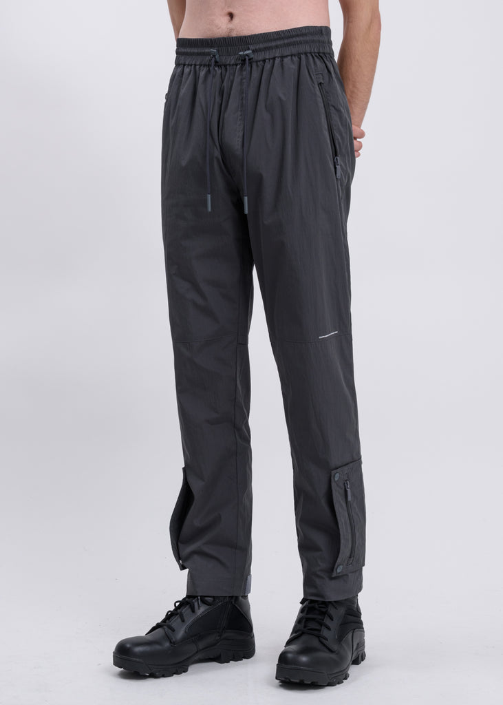 Dark Grey Side Pockets Track Pants