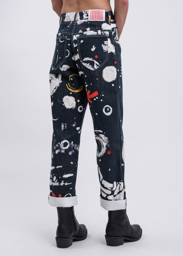 Navy Blue Asteroids Jeans