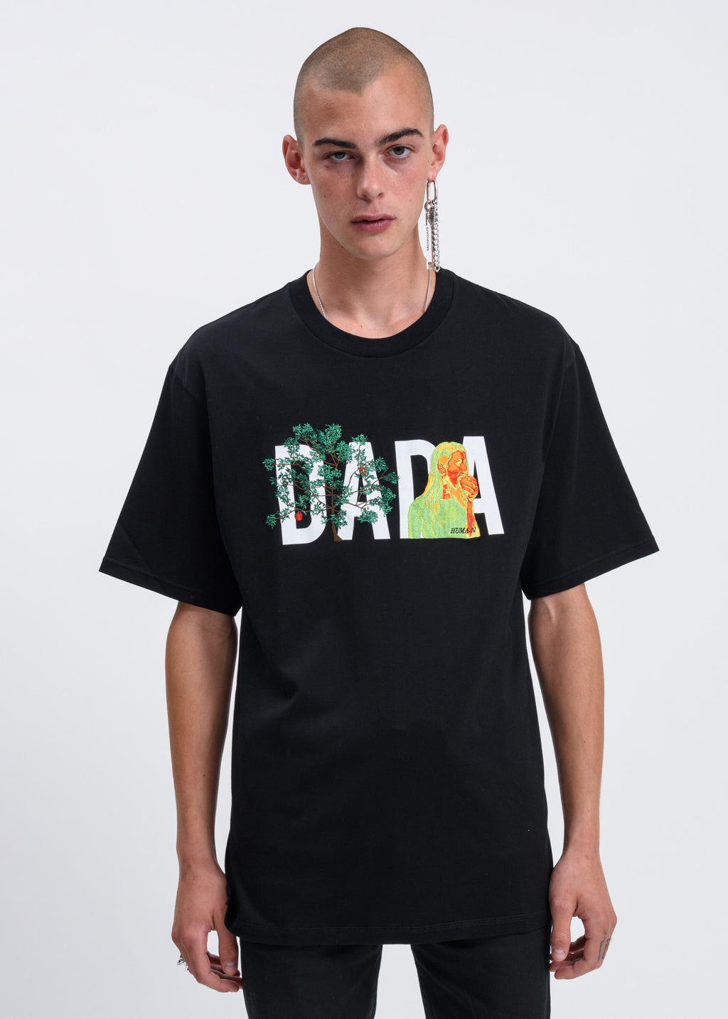 Black DADA Logo Embroidery T-shirt
