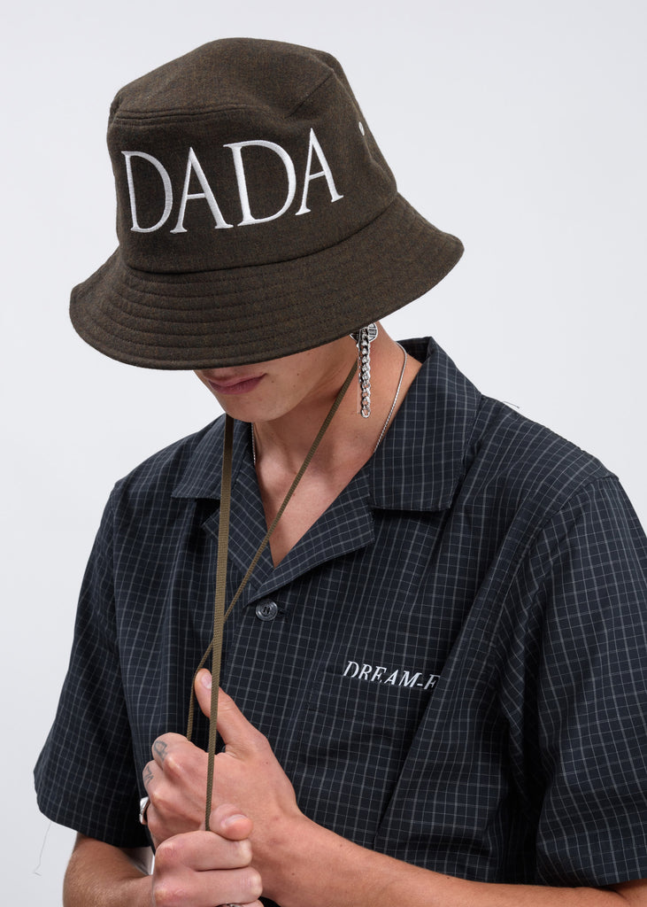 Olive DADA Embroidery Bucket Hat
