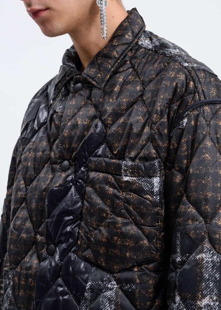 Brown Quilted Puffer Jacket