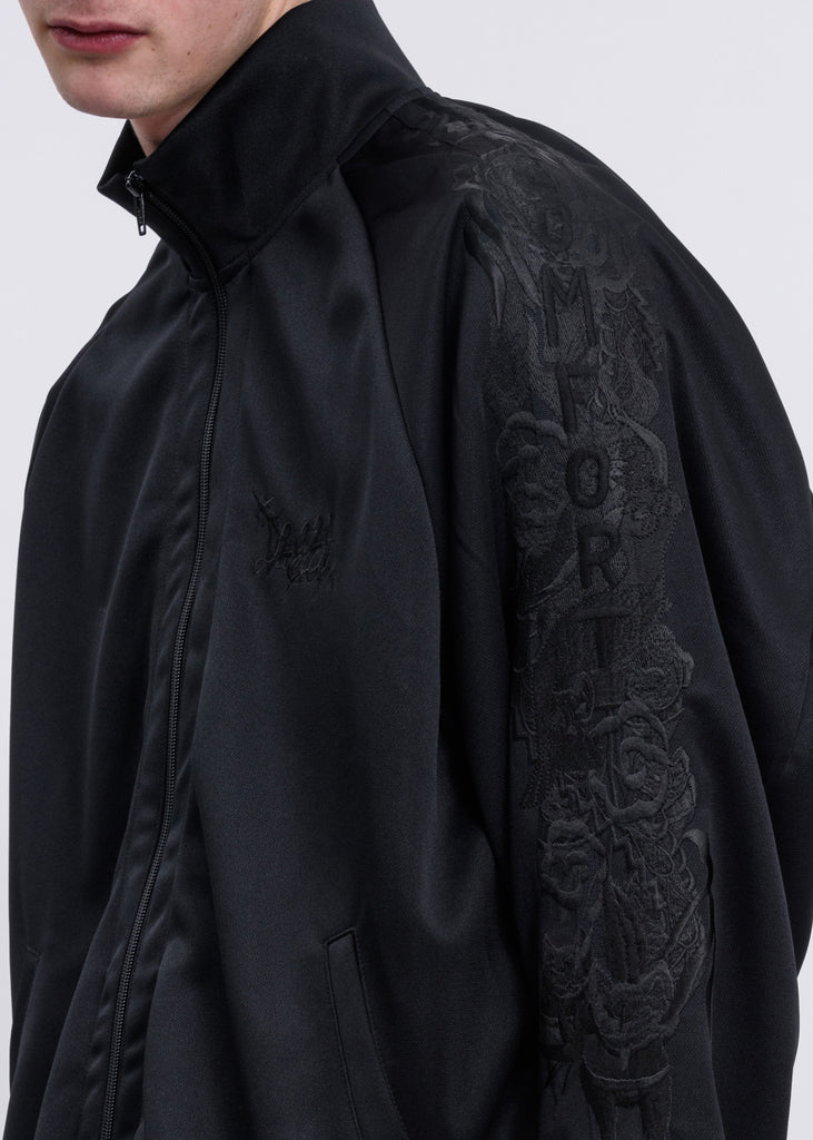 Doublet, Black Chaos Embroidery Track Jacket, 017 Shop
