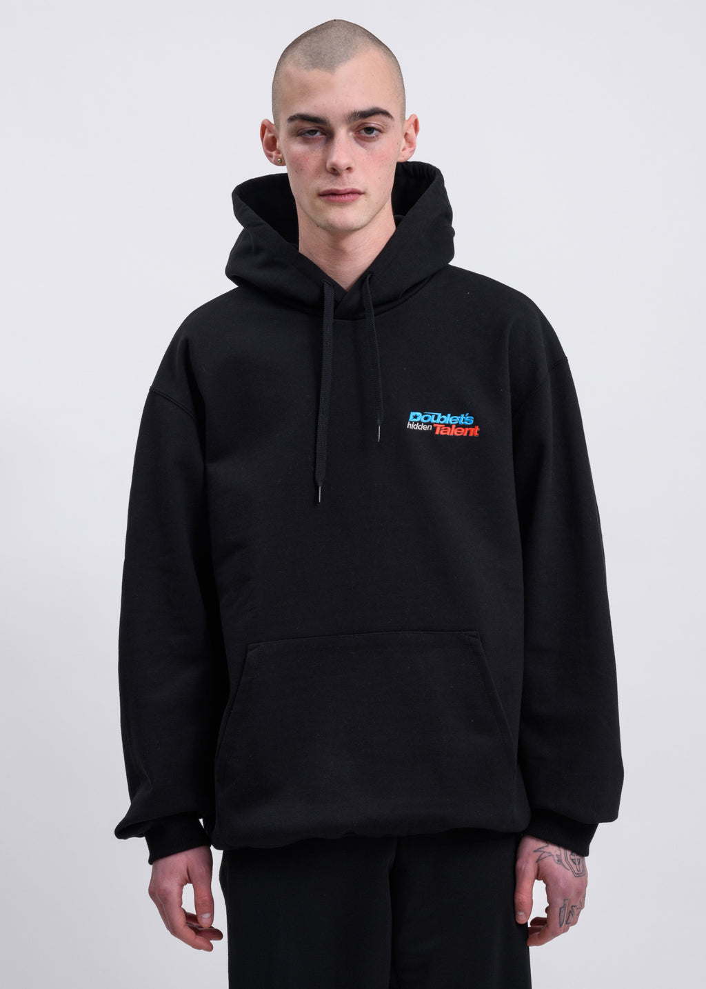 Black Hidden Chaos Embroidery Hoodies