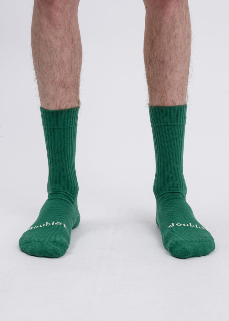 "Doublet, Green ""Pull-Up"" Socks, 017 Shop"