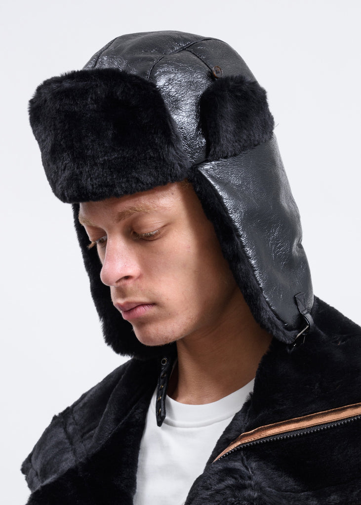 Black Trapper Hat