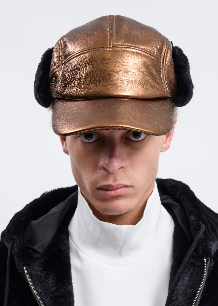 Copper Earflap Cap