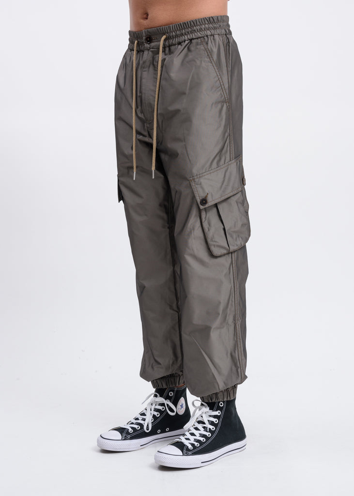 Khaki Crocodile Cargo Pants