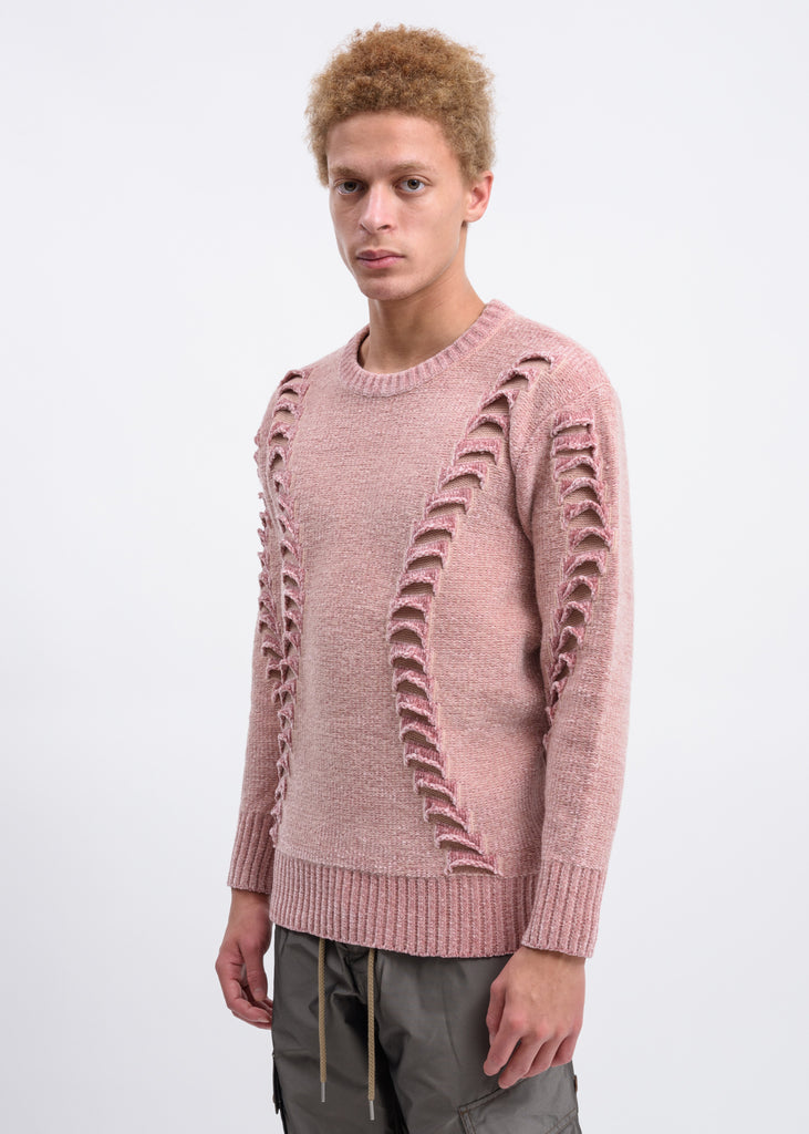 Rose Chennille 3D Embroidered Sweater