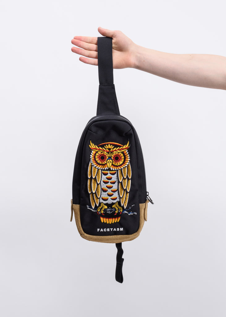 Black Owl Crossbody Bag