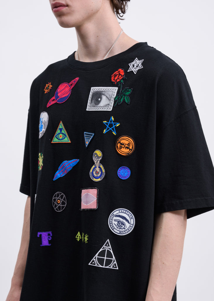 Black Space Patch T-shirt