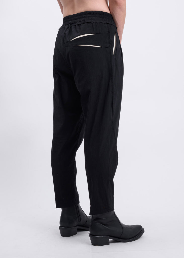Black Double Pocket Detail Trousers