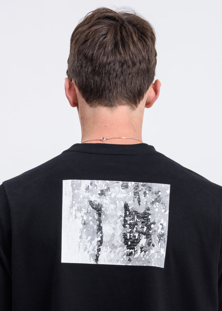 Black Splatter Patch T-Shirt
