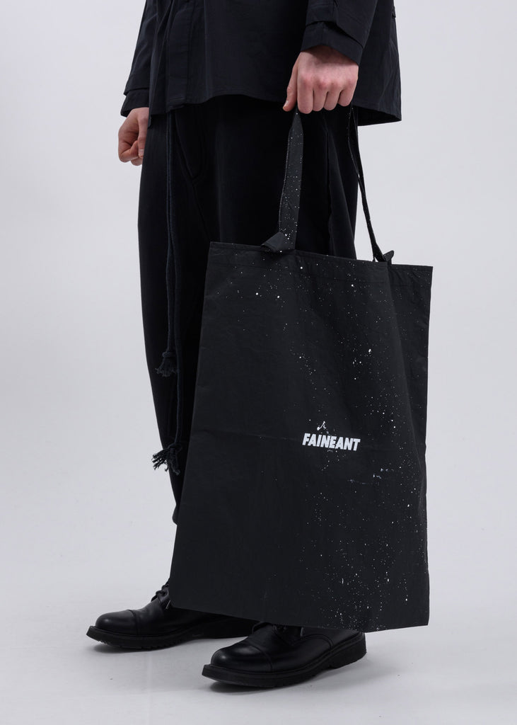Black  Splatter Tote Bag