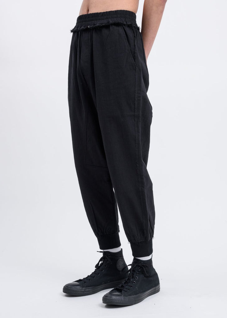 Black Striped Woven Pants
