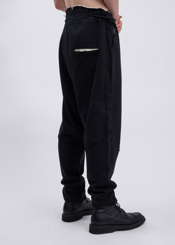 Black Drop Crotch Trousers