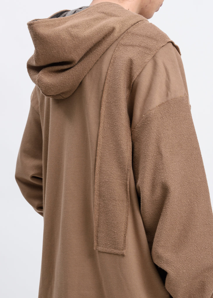 Camel Reversible Long Zip Up Hoodie