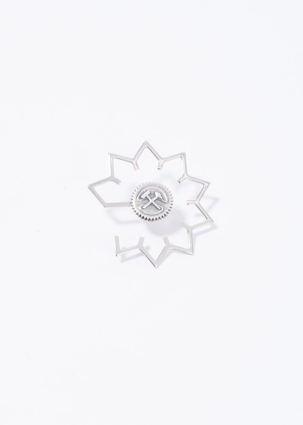 Silver Earring with COG Ear Cuff (Single)