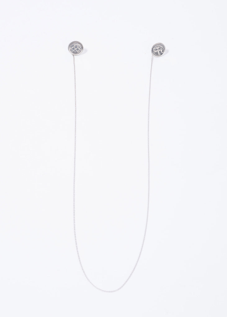 Silver Hammer Earrings w/ Chain