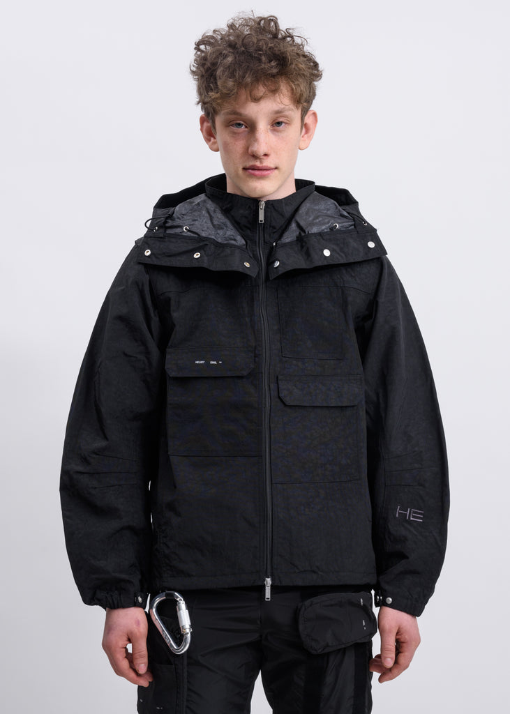 Black Panel Hooded Jacket