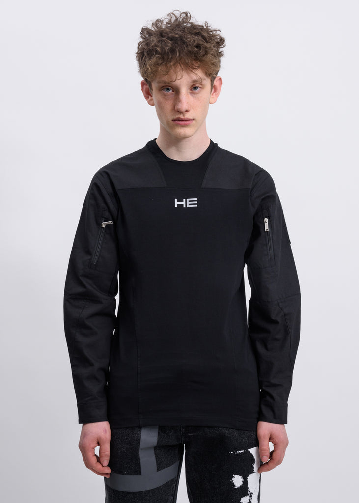 Black Technical Bomber Shirt