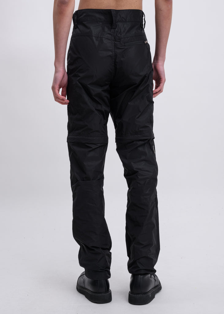 Black Zip Off Technical Pants