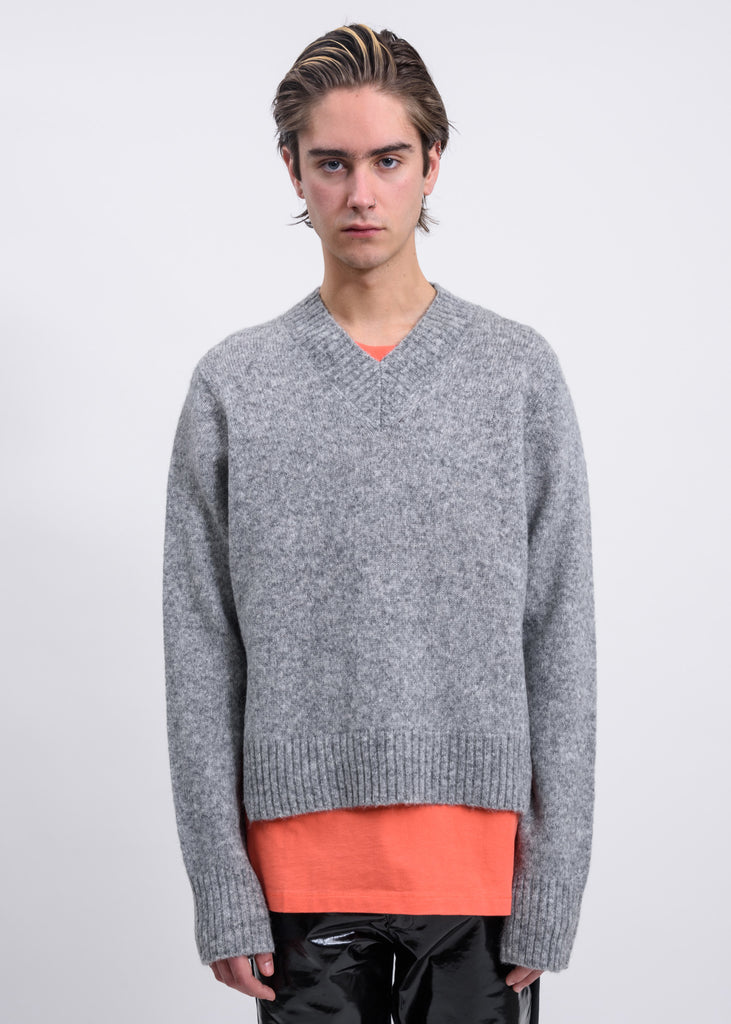 Ash V-Neck Tie Sleeve Sweater