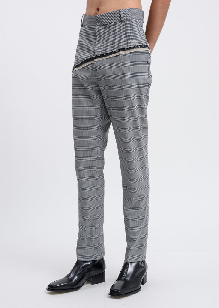 Houndstooth Check D'angelo Raw Trousers