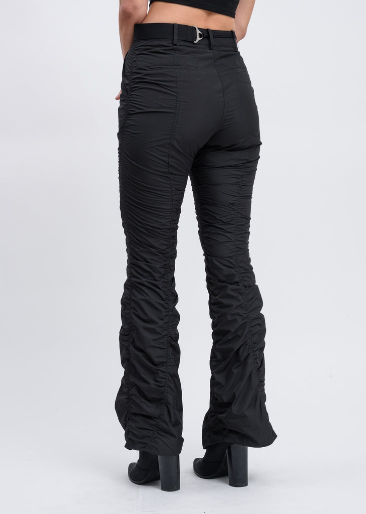 Black Shirring Pants