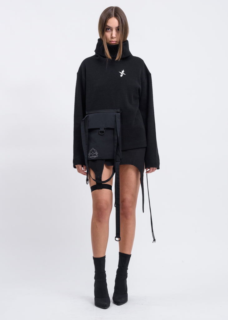 Black Turtleneck w/ Detachable Bag