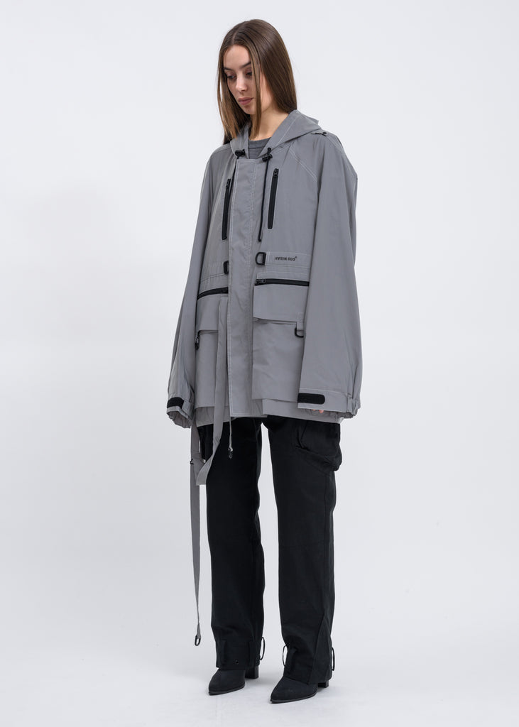 Silver Reflective Anorak With Detachable Bag