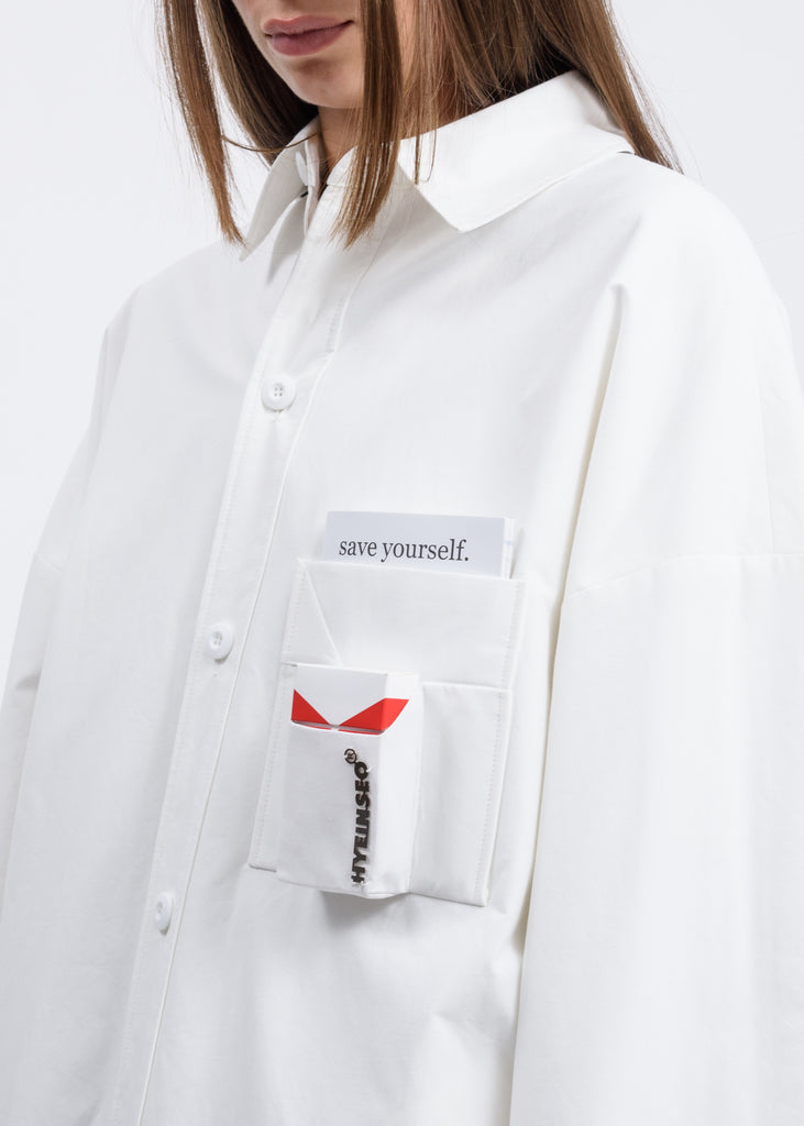 White Smoker's Duvet Coat