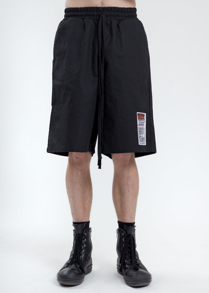 Black Oversized Short