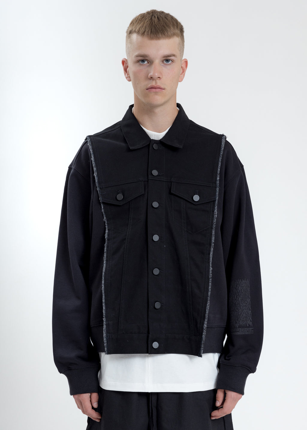 Black Type-2 Jacket With Fleece Top