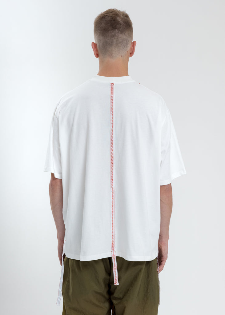 White Boxy Fit T-Shirt With Tape