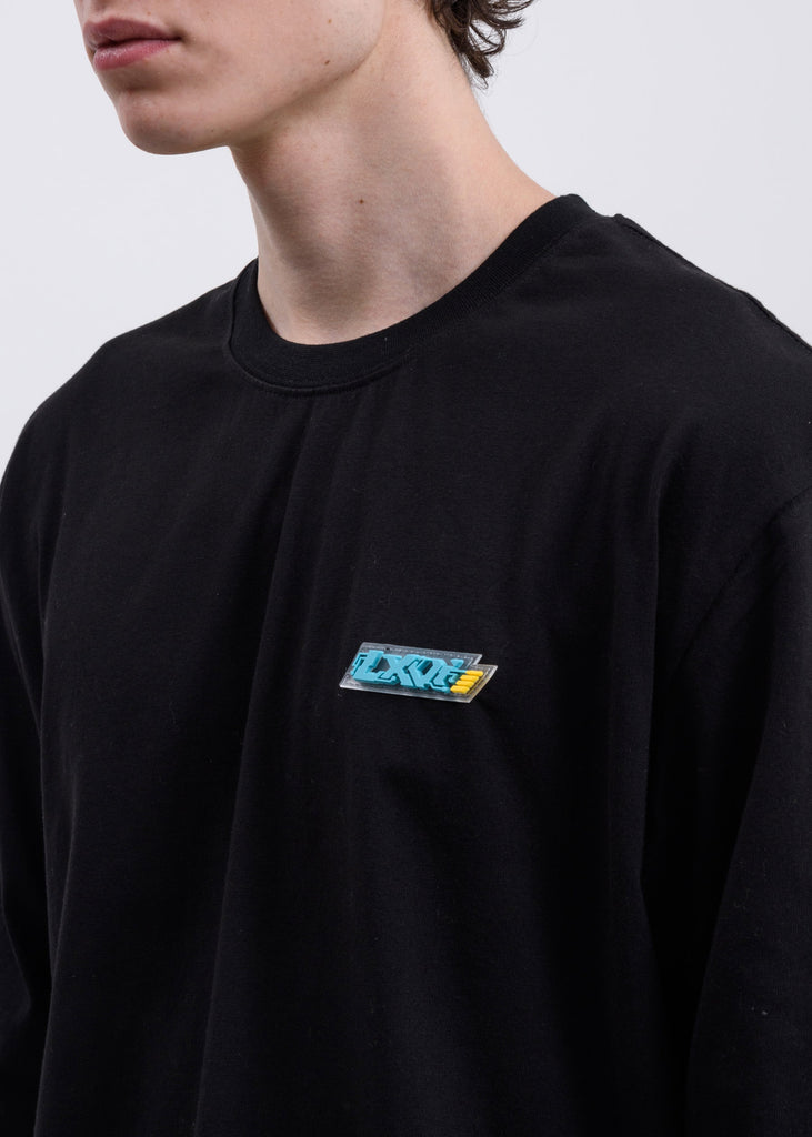 Black Chest Logo Long Sleeve