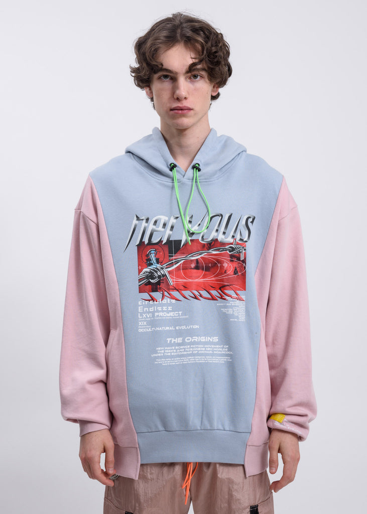 Blue Reconstructed Hoodie