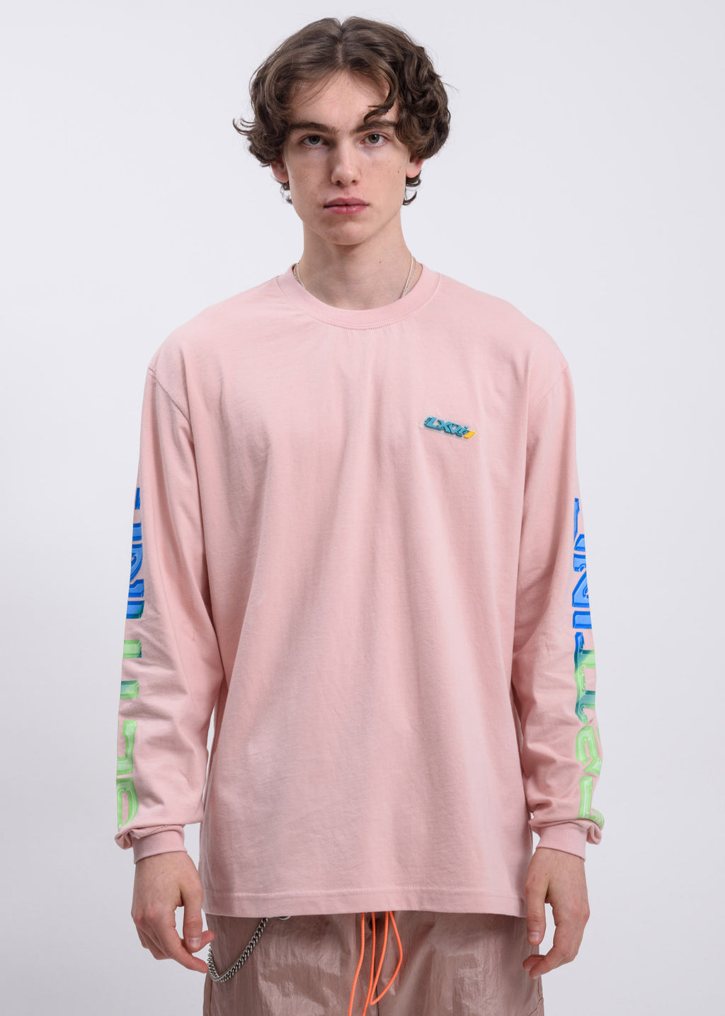 Pink Chest Logo Long Sleeve